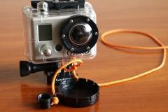 GoPro kameros korpuso objektyvo dangtelis